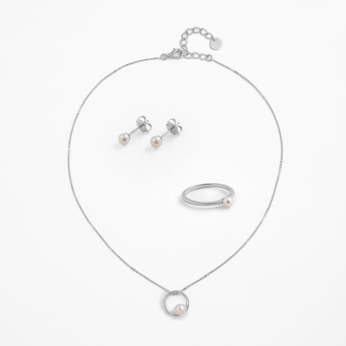Silberne Perlenpracht (3er Set)