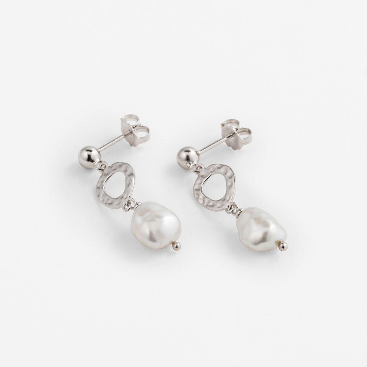 Ayla - Perlenohrringe - Silber