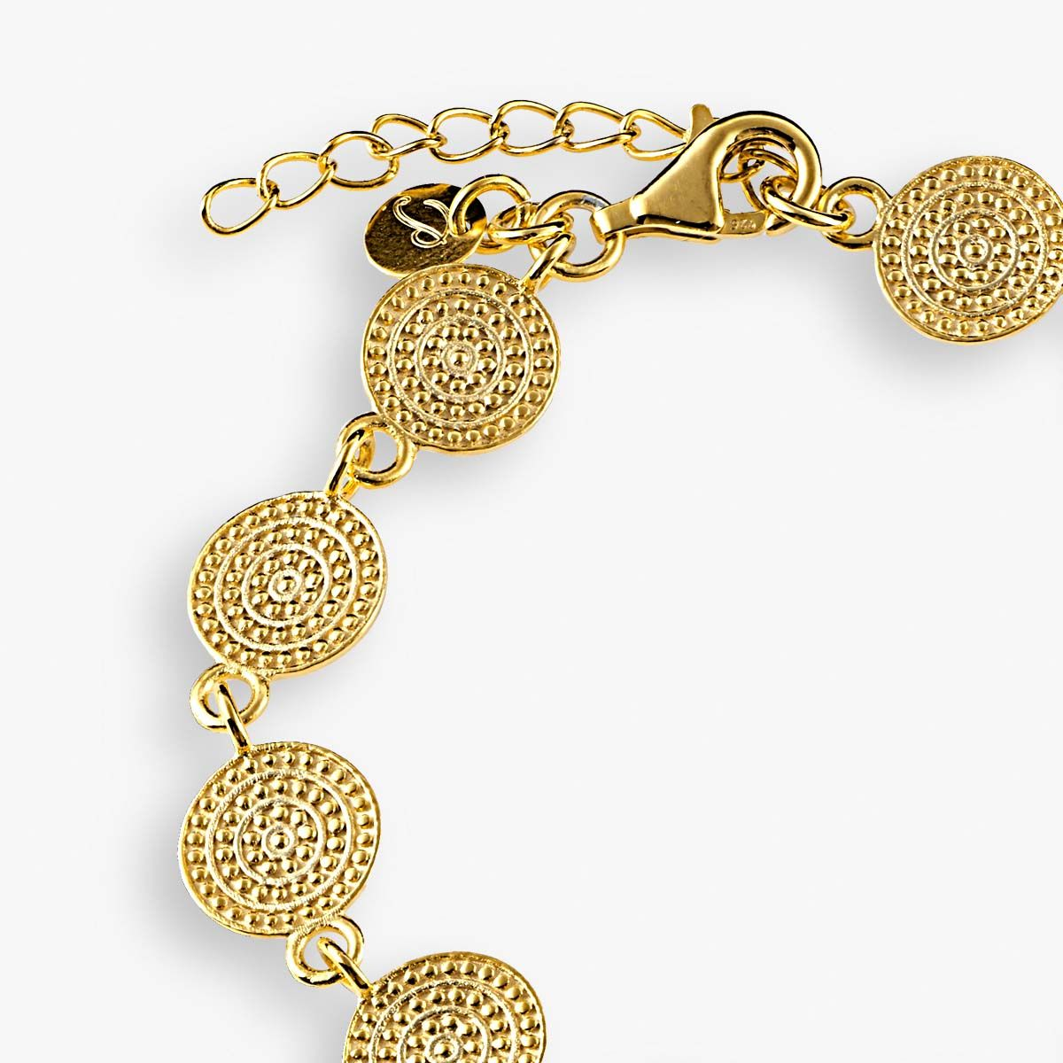 Structured bracelet - Armband - Gold