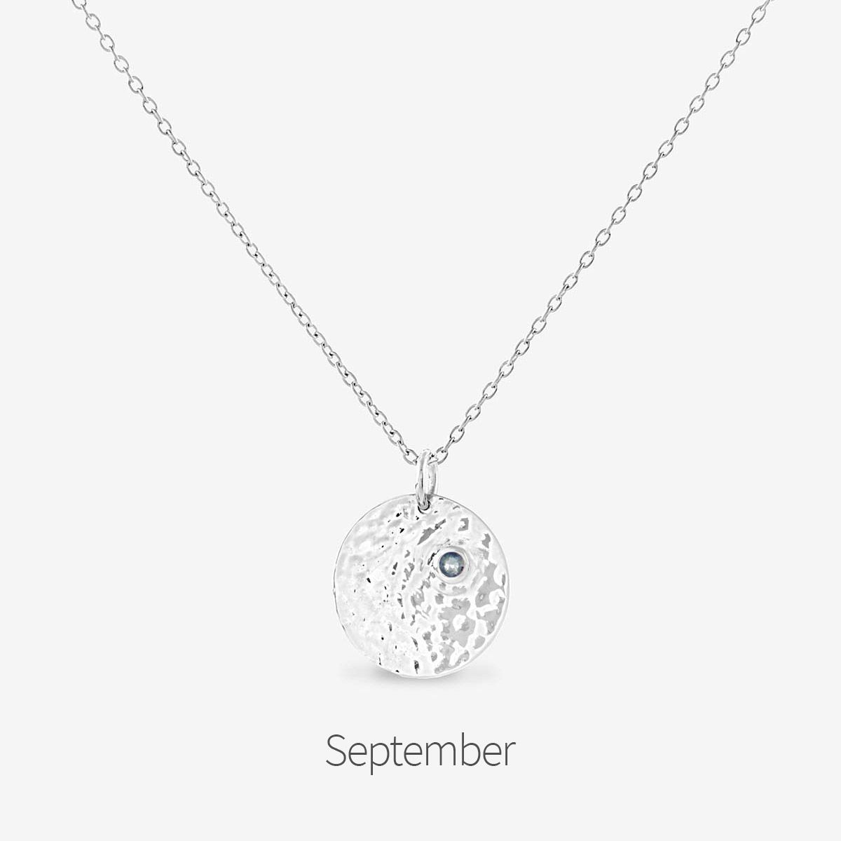 Birthstone September - Halsketten - Silber