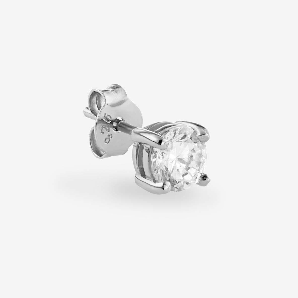 Athena Tiny - Single-Ohrringe - Silber