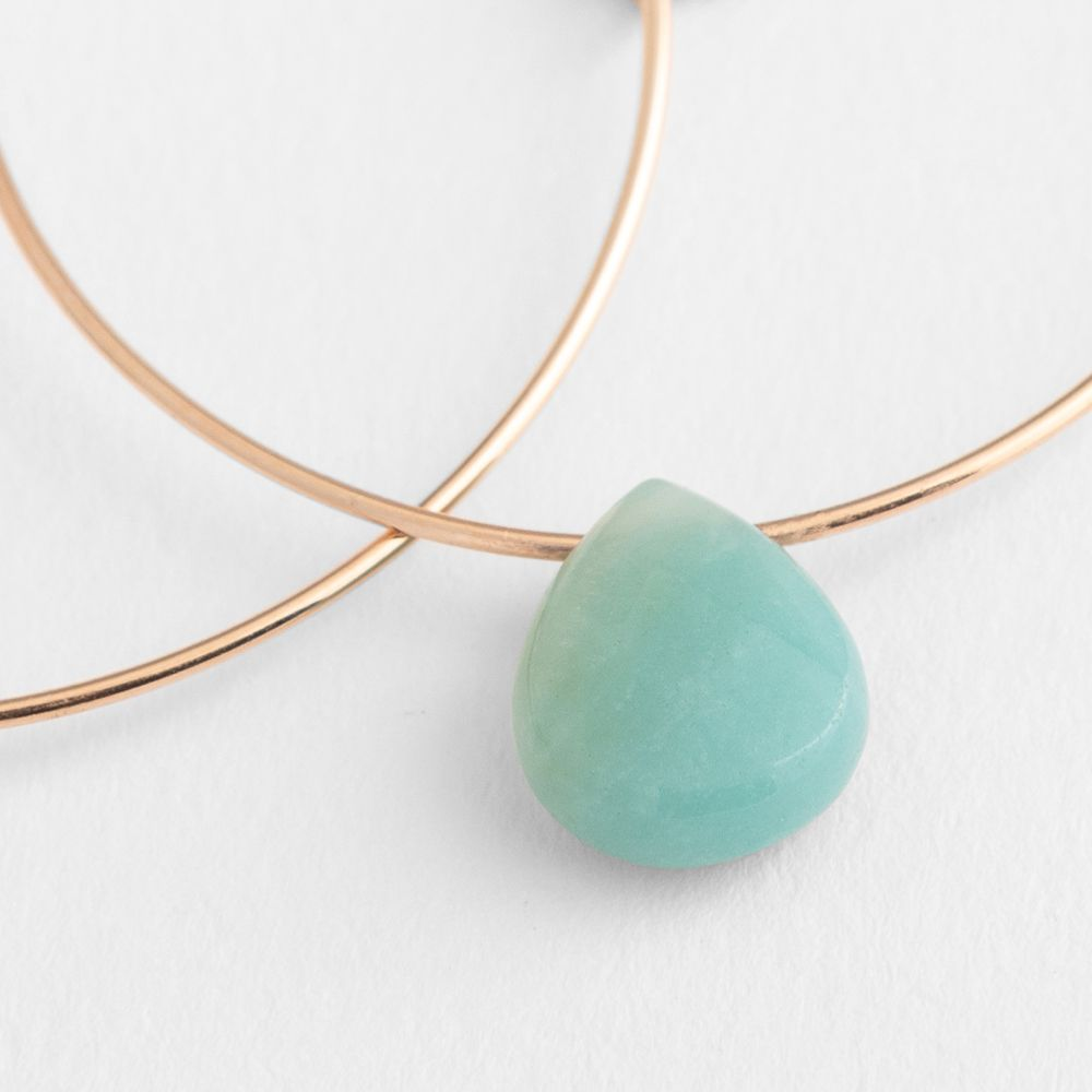 Drop-shaped amazonite - Ohrhänger - Grün