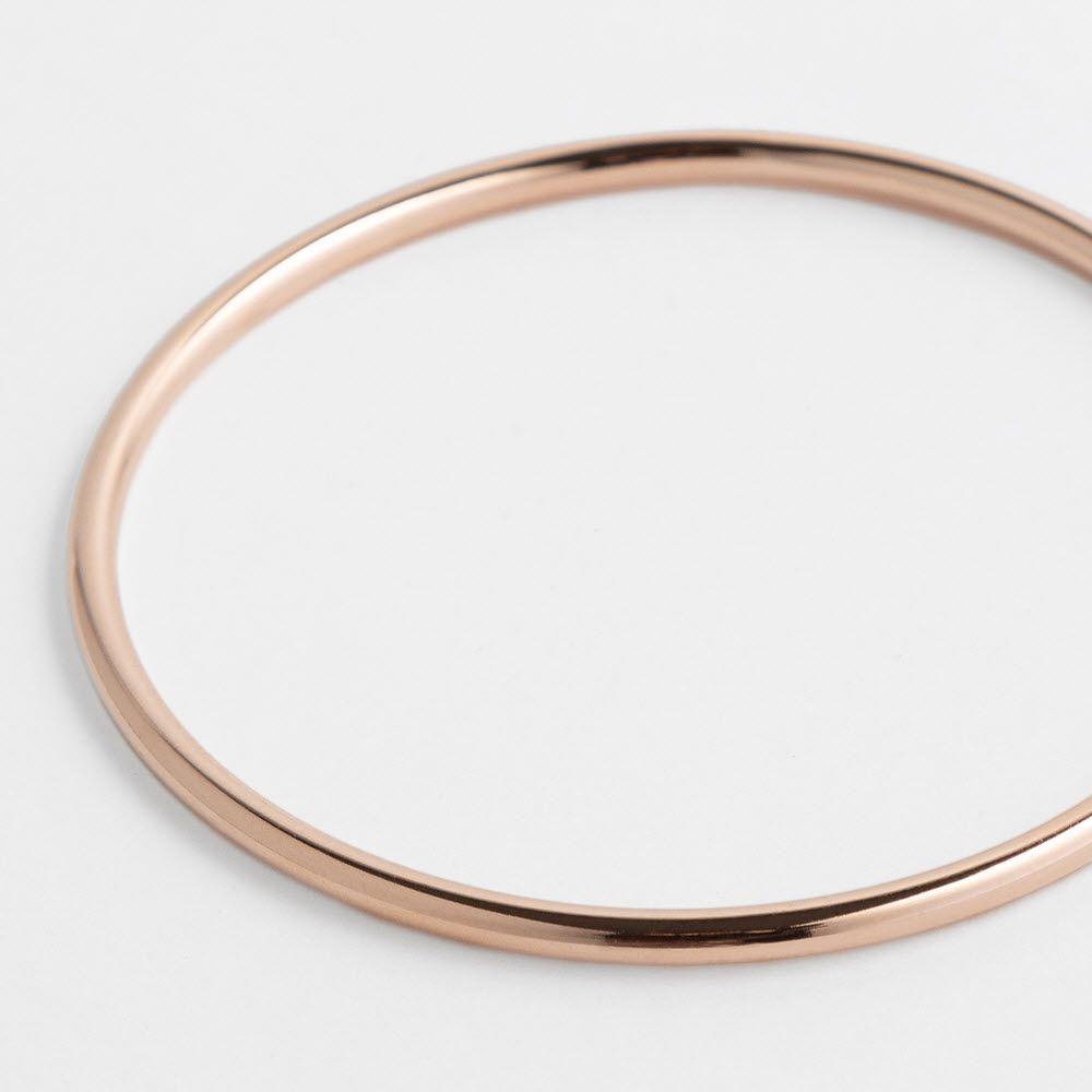 Polished shiny - Armreifen - Roségold