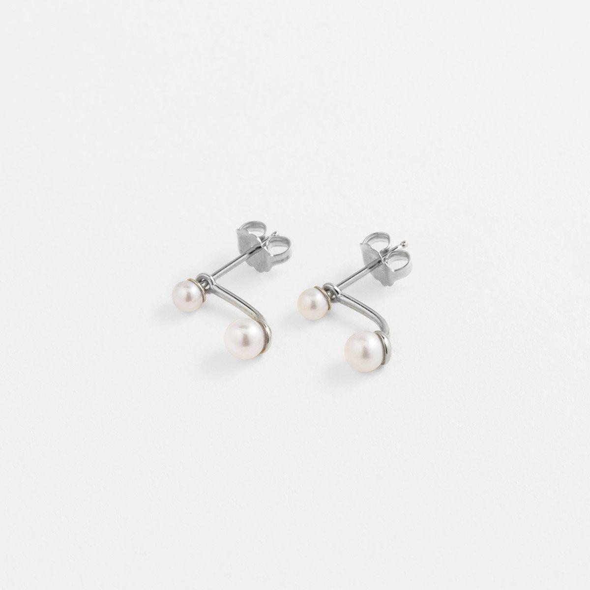 Jasna - Perlenohrringe - Silber