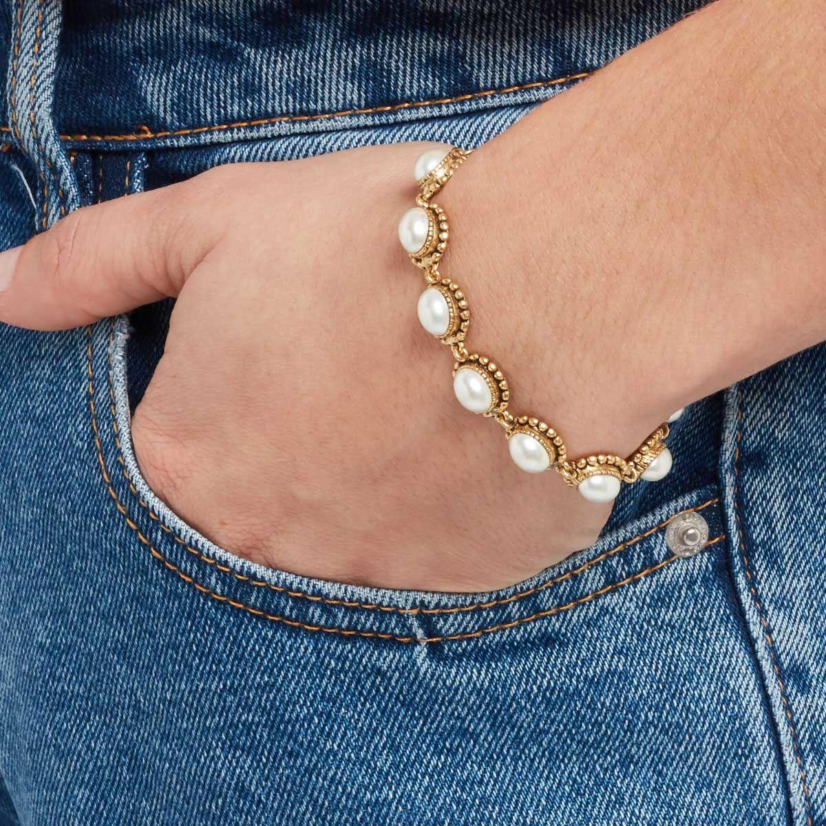Alexandra - Armband - Perlmutt