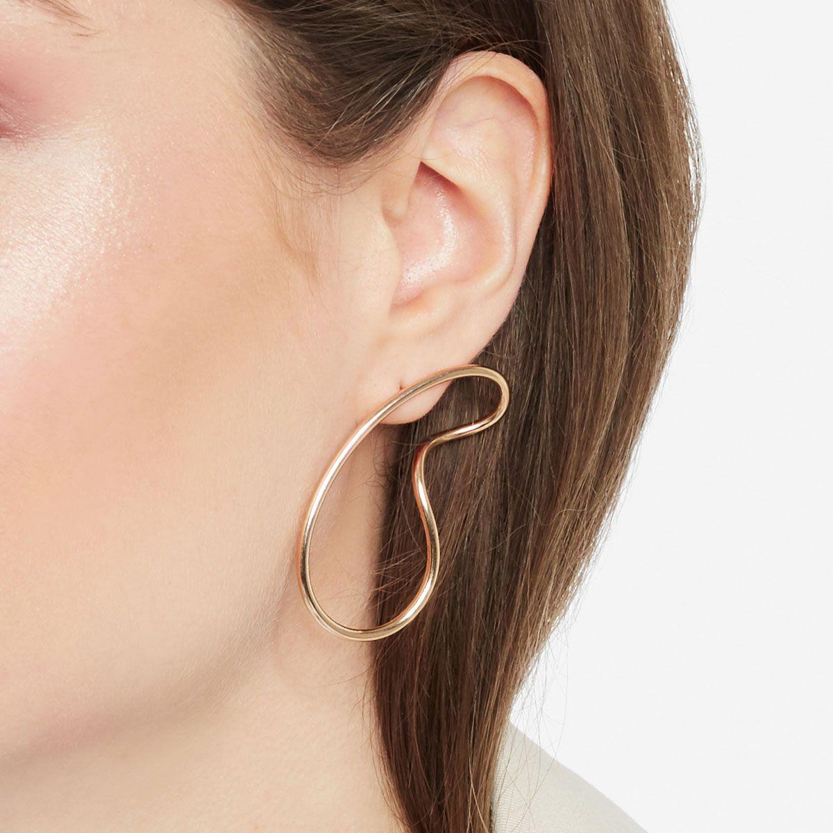 Endless Curve - Ohrhänger - Silber