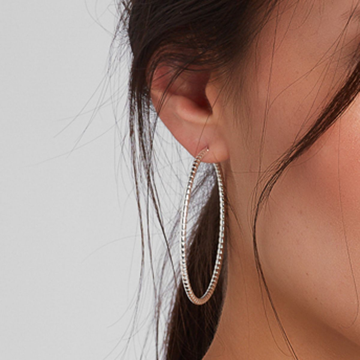 Structured shiny - Creolen - Silber