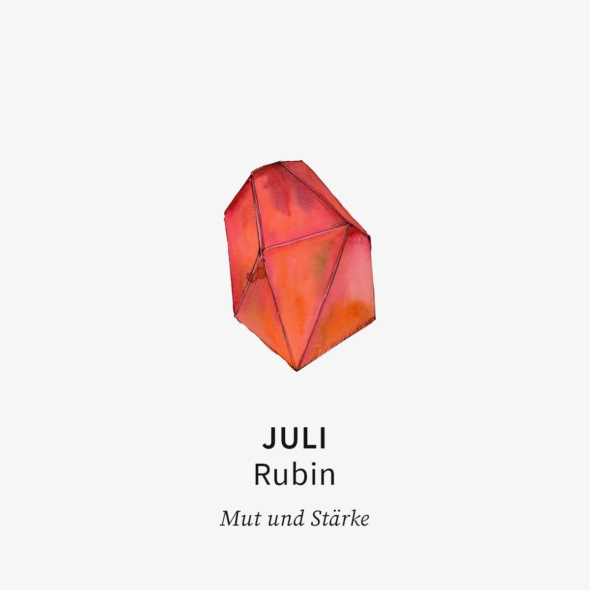 Birthstone July - Halsketten - Silber