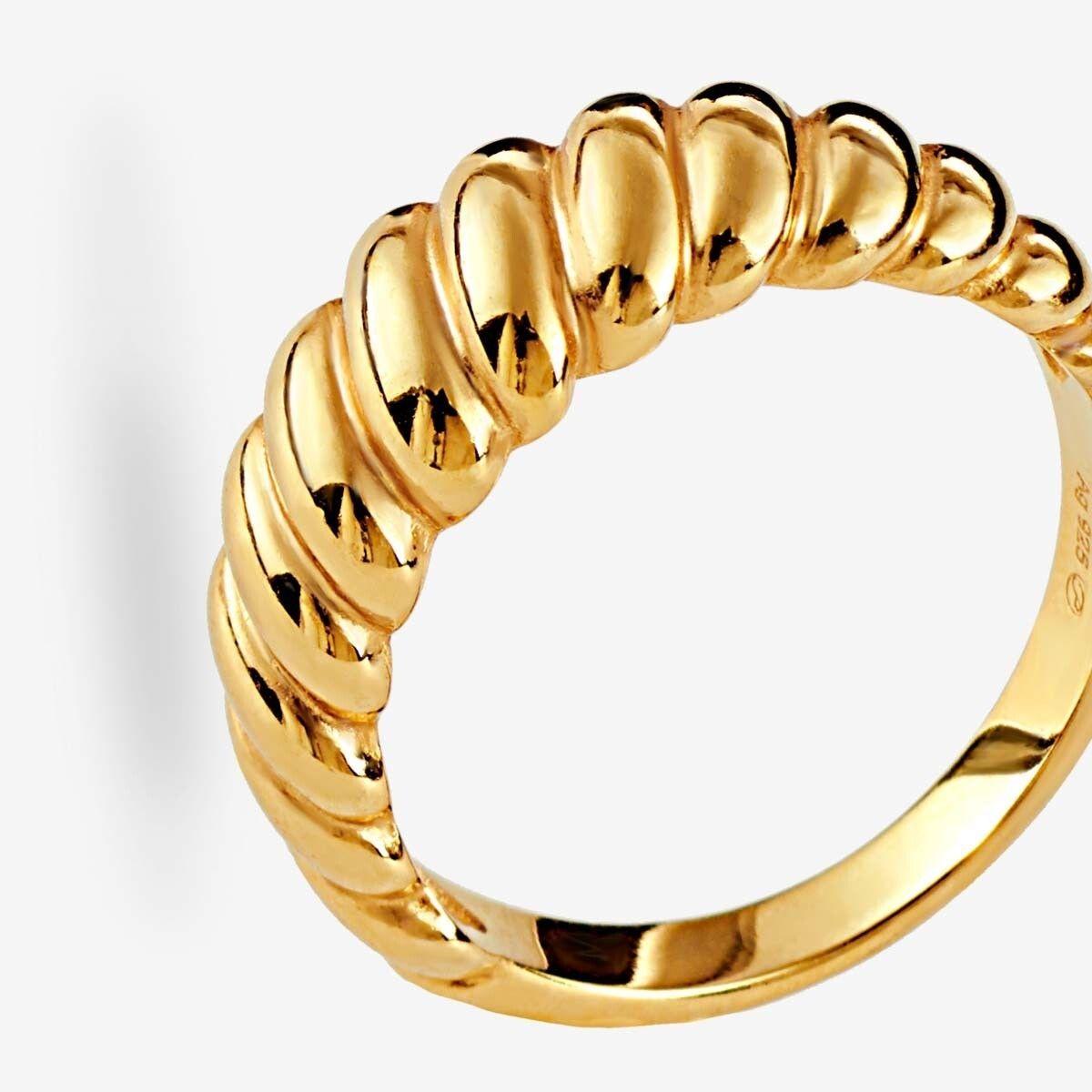 Croissant - Ringe - 18k vergoldet