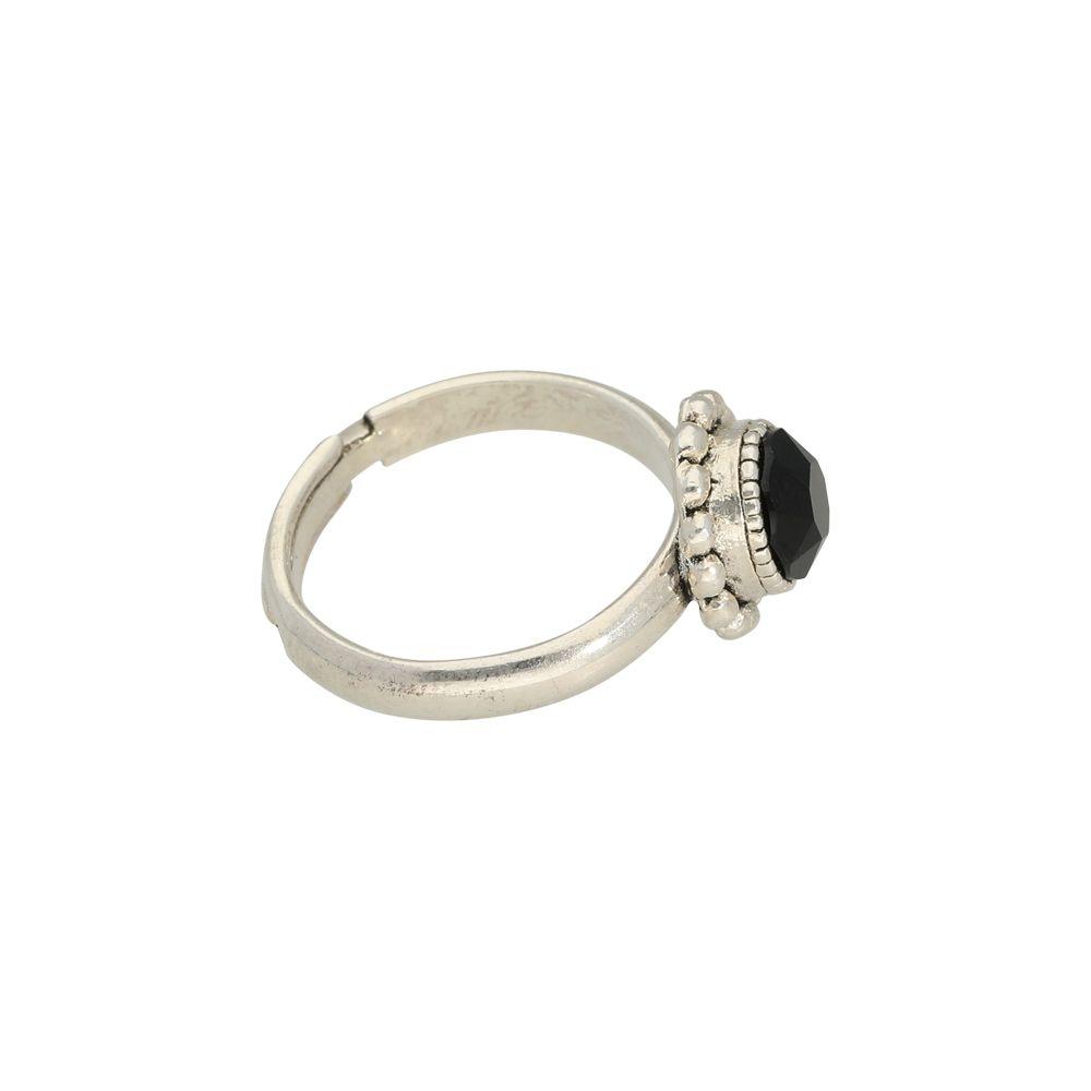 Faceted crystal - Ringe - Schwarz