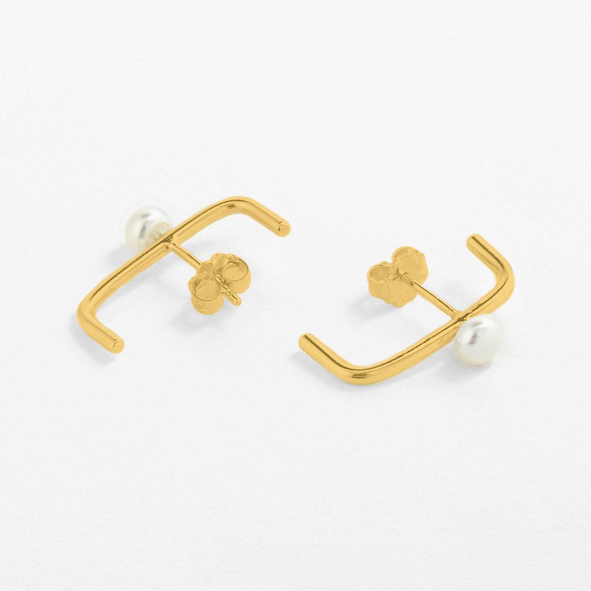 Noa - Perlenohrringe - Gold