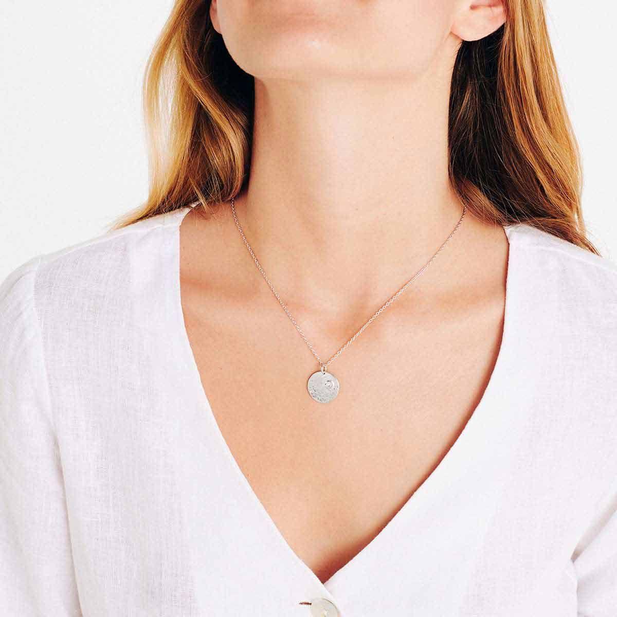 Birthstone April - Halsketten - 18k vergoldet