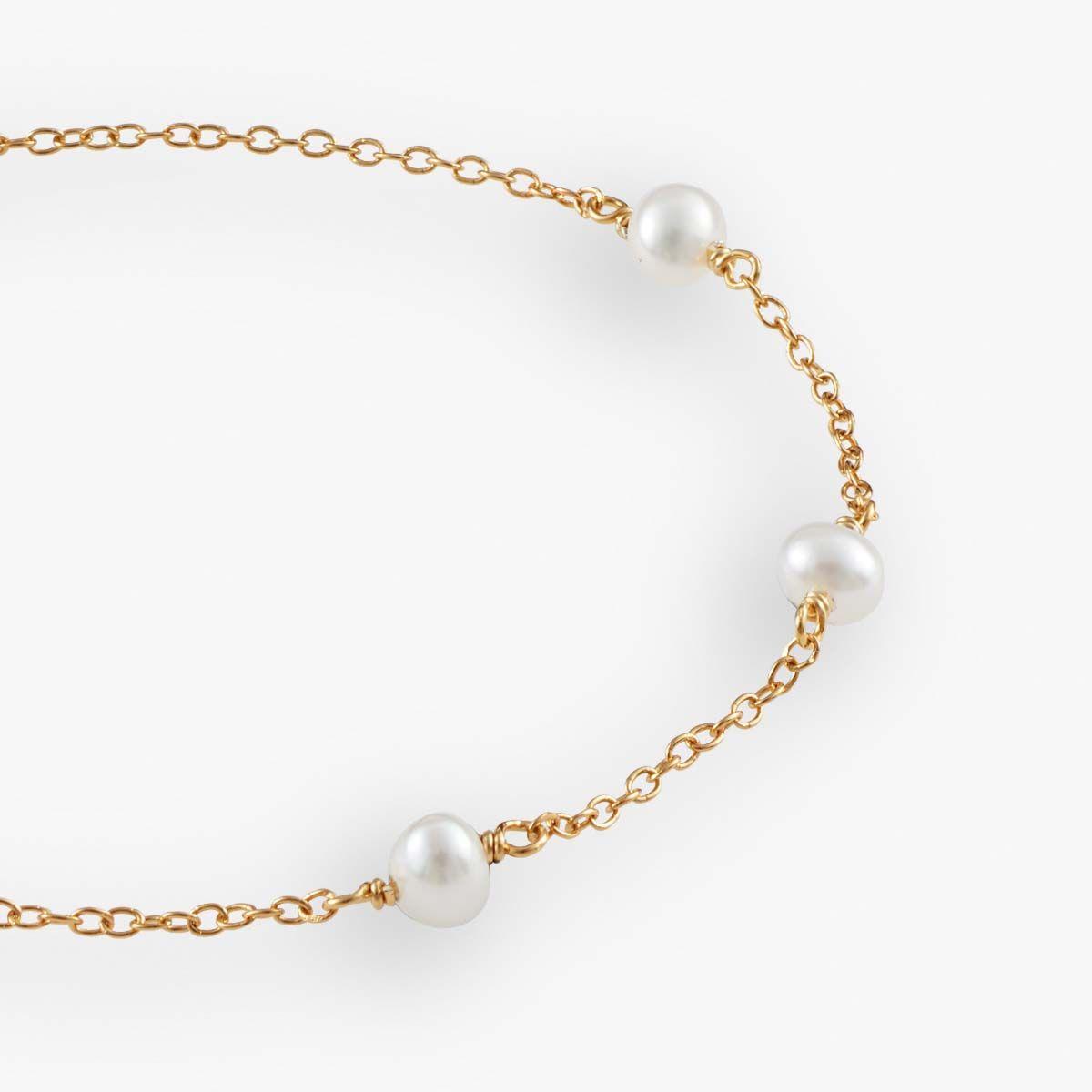 Romi - Perlenarmband - 18k vergoldet