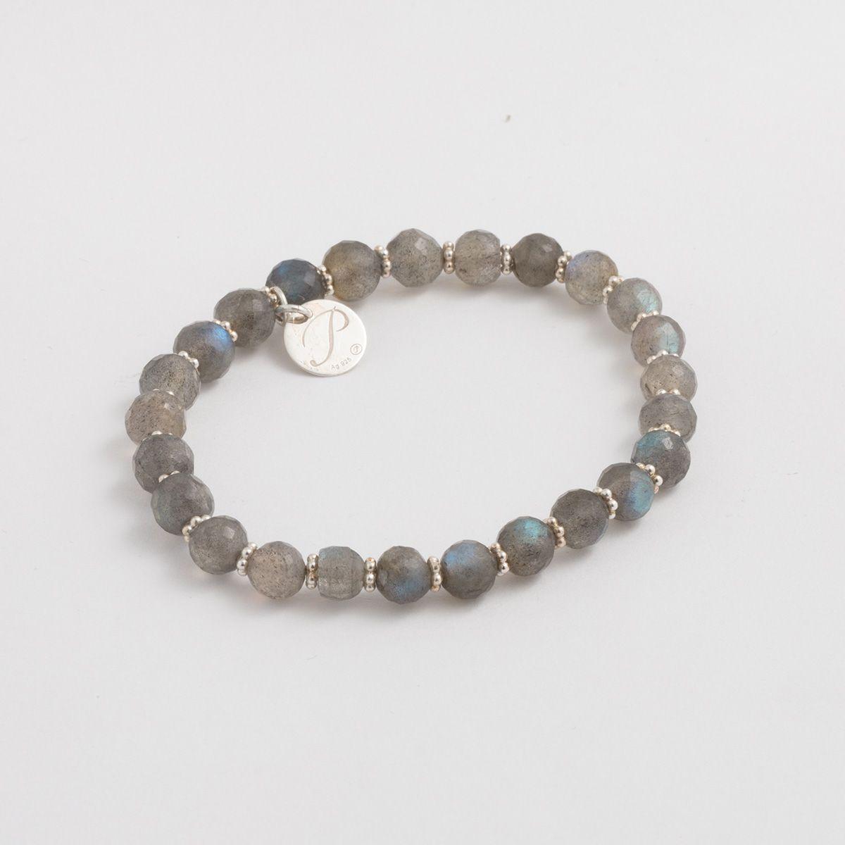 Steinarmbänder - Grau