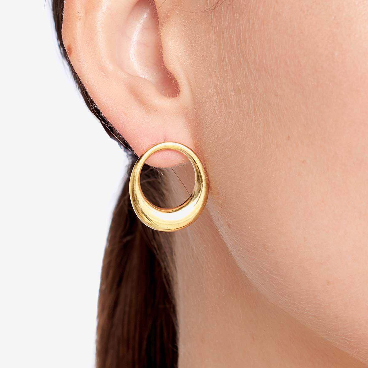 Lune - Ohrhänger - 18k vergoldet