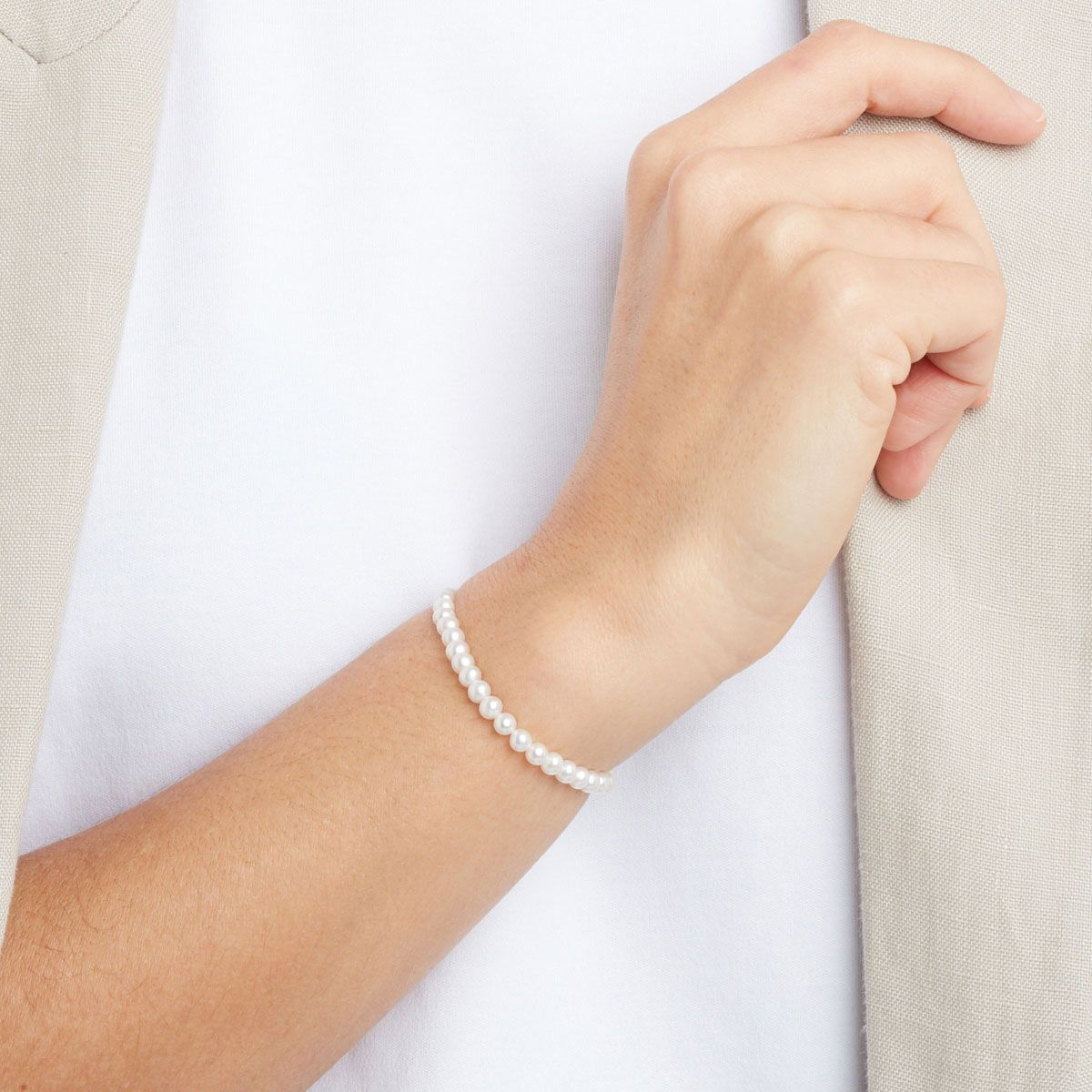 Ernestine - Perlenarmband - Silber