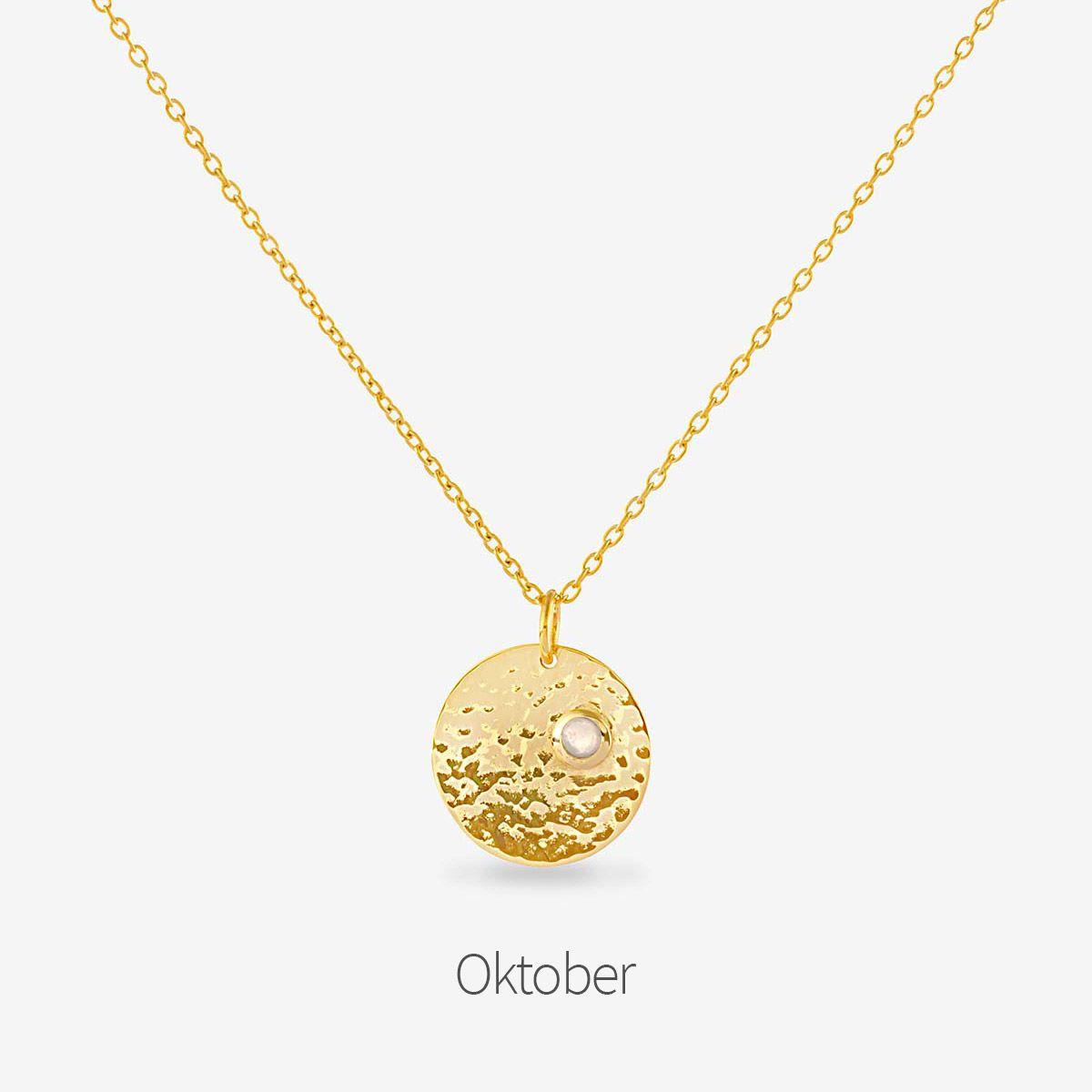 Birthstone October - Halsketten - Gold