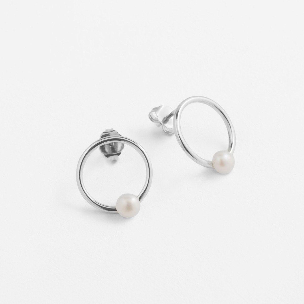 Belinda - Perlenohrringe - Silber