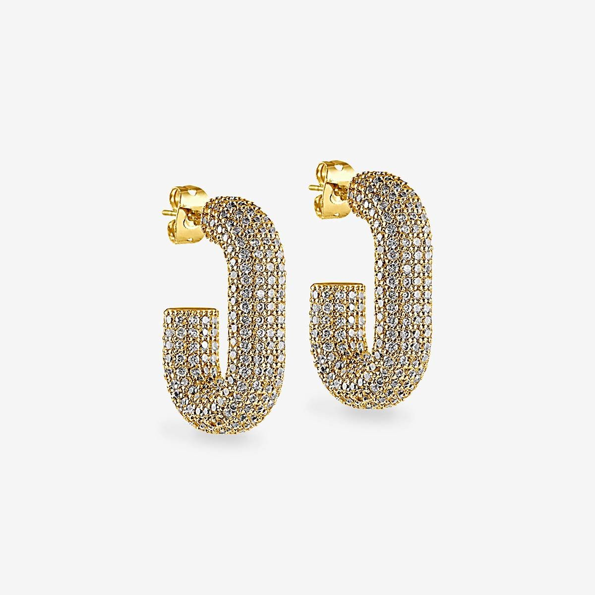 The Pave Bijou Loop Hoops - Creolen - Gold