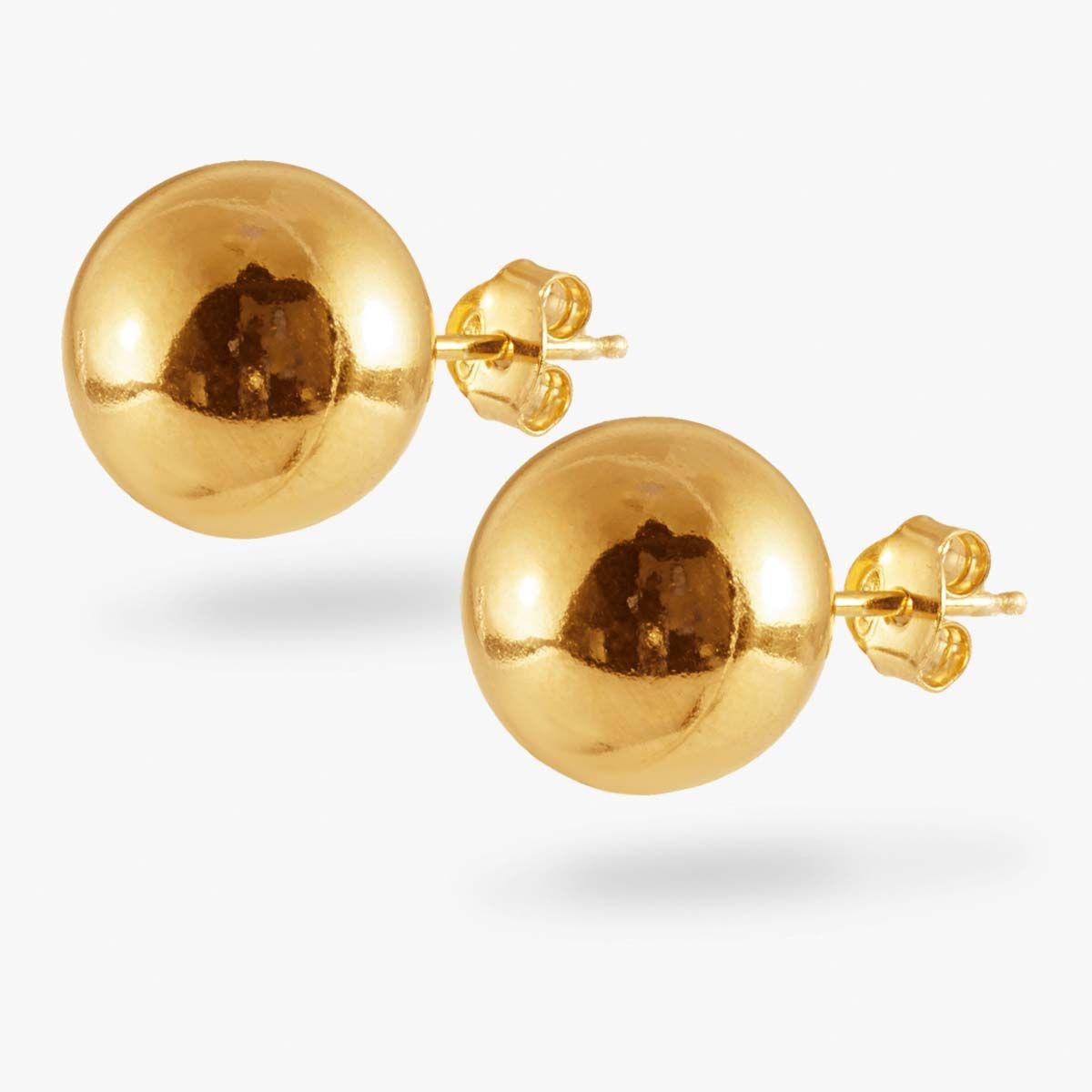Big Ball - Ohrstecker - Gold