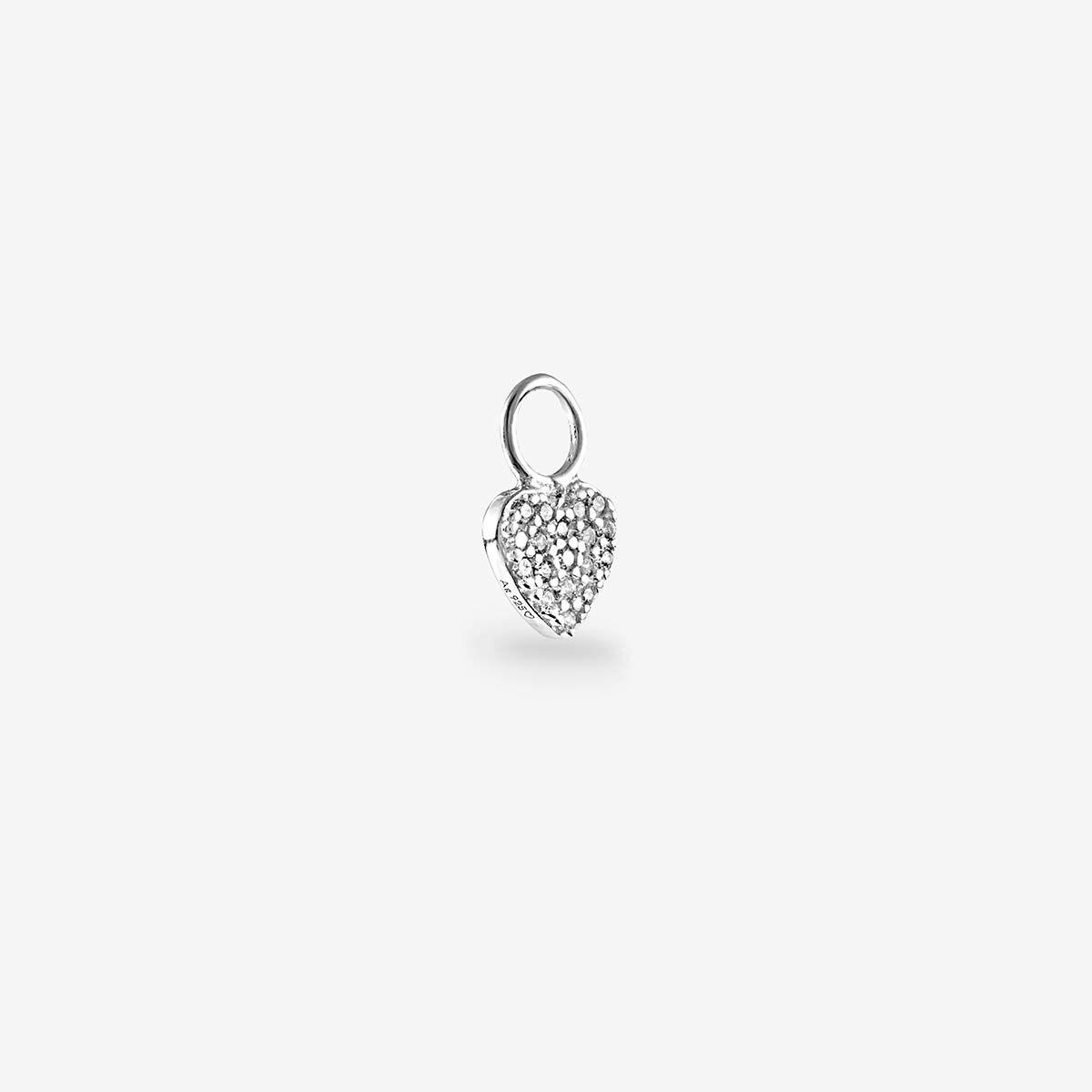 Herz Zirkonia Anhänger Sillber - Ohrring Anhänger - Silber