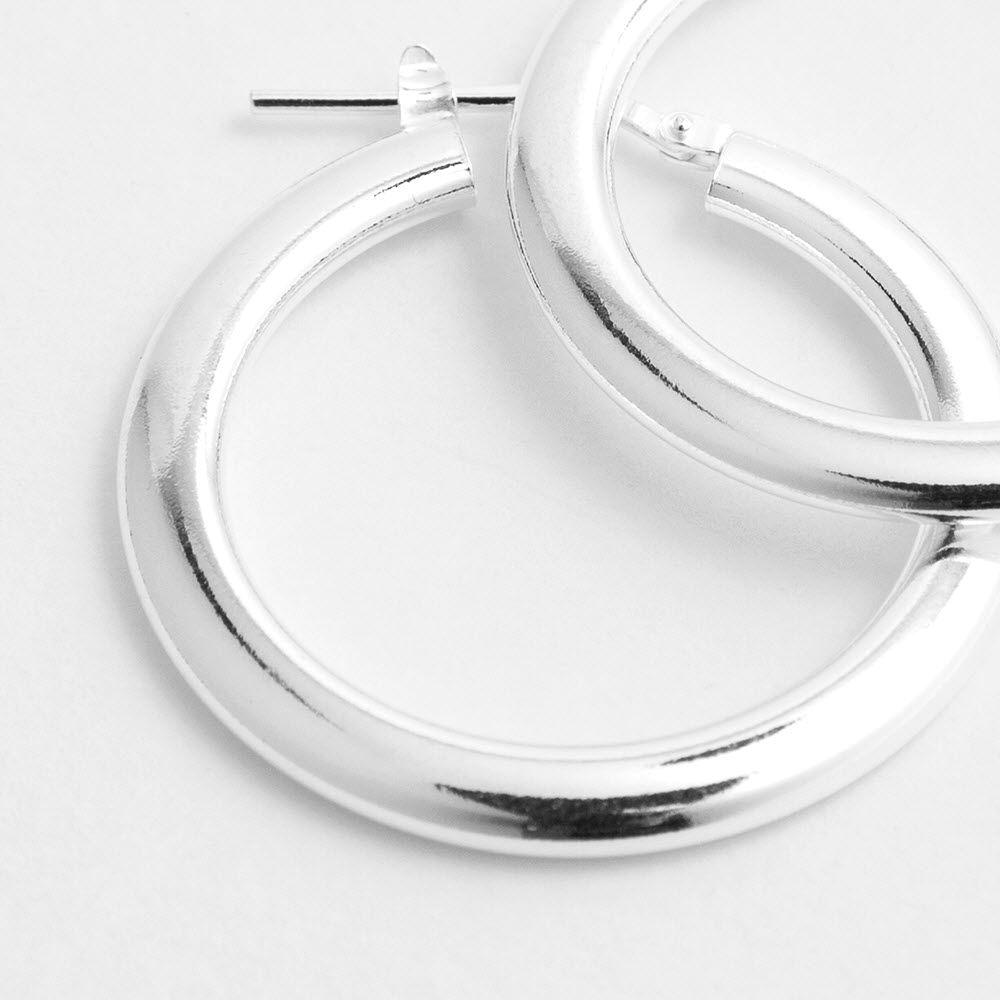 Shiny polished - Creolen - Silber